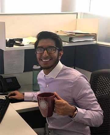 Ryan Maharaj in the office